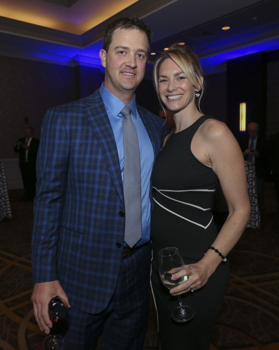 BOSTON - May 19, 2016 - Boston Red Sox pitcher Steven Wright and wife Shannon attend the Red Sox Hall of Fame and Fenway Honors Award Gala benefitting the Red Sox Foundation at the Sheraton Boston. (Brita Meng Outzen/Boston Red Sox)